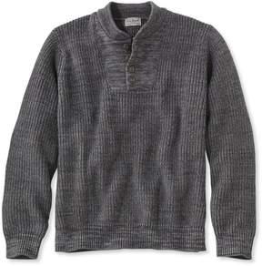 L.L. Bean L.L.Bean Blue Jean Sweater, Military Henley