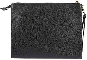 Michael Kors Mercer Wristlet Travel Clutch - BLACK - STYLE