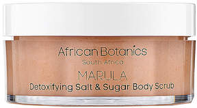 African Botanics Marula Detoxifying Salt & Sugar Body Scrub.