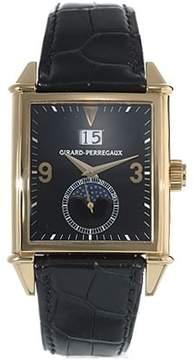 Girard Perregaux Vintage 1945 18kt Yellow Gold Black Leather Men's Watch