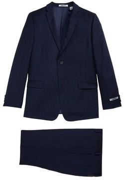 DKNY Boy's Windowpane Wool Suit