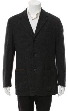 Luciano Barbera Cashmere-Blend Button-Up Coat