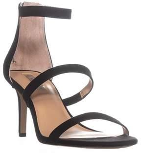 INC International Concepts I35 Lavonn Ankle Strap Zip Up Sandals, Black.