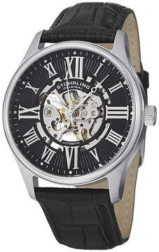 Stuhrling Original Mens Black Strap Watch-7329.02