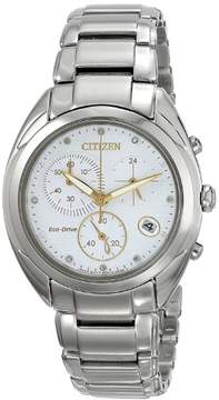 Citizen Ladies Diamond Collection Eco Drive Chronograph Watch with a Sapphire Crystal