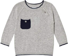 Mini A Ture Noa Noa Miniature Grey and Navy Long Sleeved Pullover