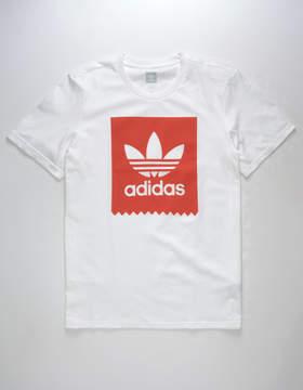 adidas Solid Blackbird Scarlet Mens T-Shirt