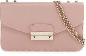 Furla Julia Grained Leather Pochette Bag