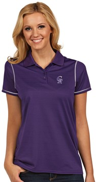Antigua Women's Colorado Rockies Icon Desert-Dry Tonal-Striped Performance Polo