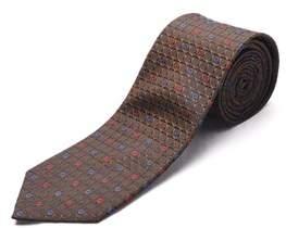 Luciano Barbera Men Slim Silk Neck Tie Brown.