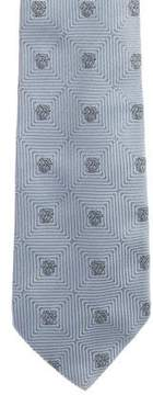 Gianni Versace Medusa Jacquard Silk Tie