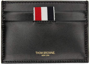 Thom Browne SSENSE Exclusive Black Embossed Toy Icon Single Card Holder