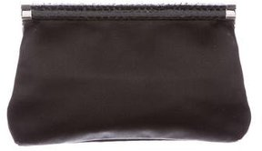 Michael Kors Snakeskin-Trimmed Evening Bag - BLACK - STYLE
