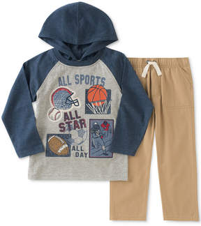 Kids Headquarters 2-Pc. Sports Graphic-Print Hooded Shirt & Pants Set, Little Boys (4-7)