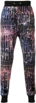 Frankie Morello multi-print casual trousers