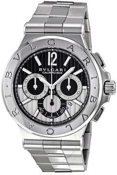 Bvlgari Diagono Black Chronograph Stainless Steel Men's Watch DG42BSSDCH