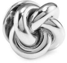 David Donahue Sterling Silver Double Knot Lapel Pin