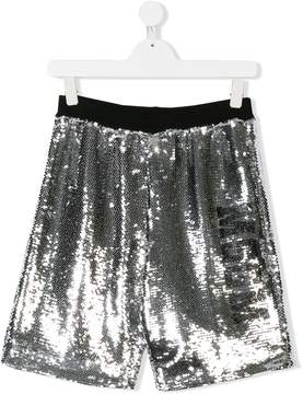MSGM TEEN sequined shorts