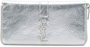 Saint Laurent monogram zip wallet - METALLIC - STYLE
