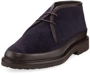 Ermenegildo Zegna Trivero Suede & Leather Chukka Boot