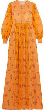 Emilia Wickstead Pia Floral-print Silk-georgette Gown - Saffron