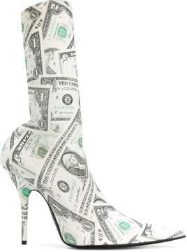 Balenciaga dollar print Knife boots