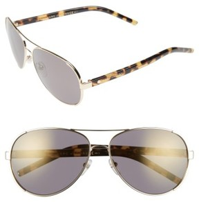 Marc Jacobs Women's 60Mm Oversize Aviator Sunglasses - Gold