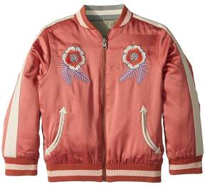 Stella McCartney Willow Embroidered Reversible Bomber Jacket Girl's Coat