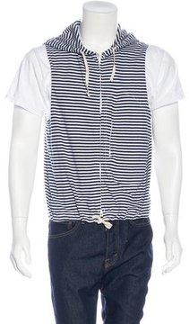 Engineered Garments Striped Sleeveless Hoodie w/ Tags