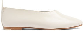 Joseph Round-toe leather ballet flats