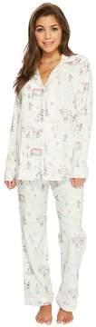 BedHead Long Sleeve Classic Knit Two-Piece Pajama Set Women's Pajama Sets