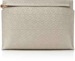 Loewe T Embossed Canvas Clutch