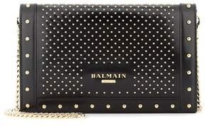 Balmain L'Enveloppe leather shoulder bag