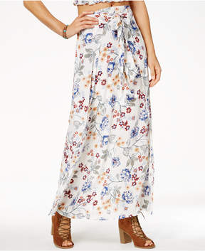 American Rag Juniors' Printed Faux-Wrap Maxi Skirt, Created for Macy's