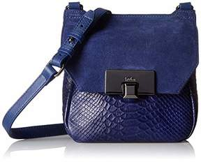 Kooba Womens Leather Mini Satchel Crossbody Bag Cobra Gable Hobo Bag