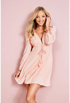 GUESS Long-Sleeve Corset Dress