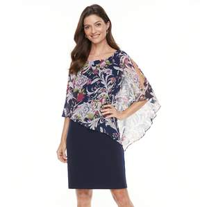 Connected Apparel Women's Print Popover Dress