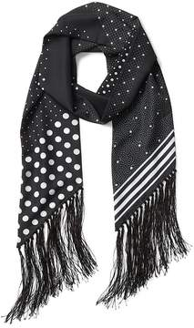 Gap Mix-print fringe scarf