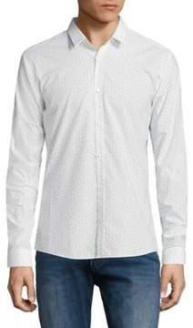 HUGO Arrow Print Slim-Fit Shirt