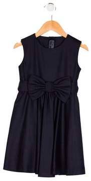 Oscar de la Renta Girls' Bow-Accented Sleeveless Dress