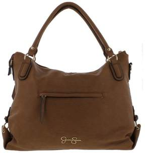 Jessica Simpson Womens Claireen Faux Leather Logo Tote Handbag