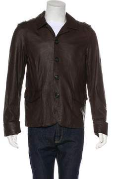 Frame Leather Button-Up Jacket w/ Tags