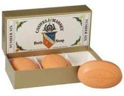 Number Six Bath Soap (Box of Three) by Caswell-Massey (5.8ozea Bar)
