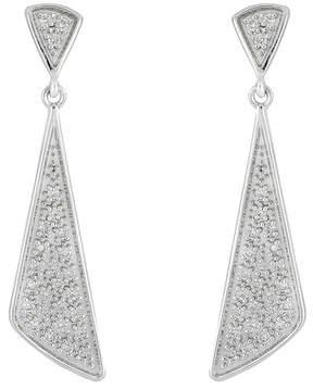 Bony Levy 18K White Gold Pave Diamond Prism Drop Earrings - 0.16 ctw