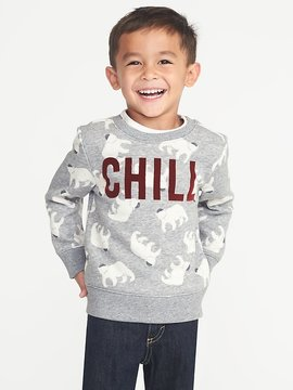 Old Navy Chill Polar Bear Graphic Sweatshirt for Toddler Boys