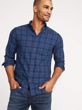 Old Navy Slim-Fit Plaid Indigo Twill Shirt for Men
