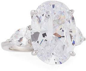 FANTASIA Oval & Pear-Cut CZ Crystal Ring