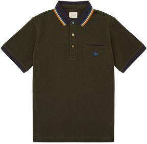 Armani Junior Coloured Collar Polo Shirt