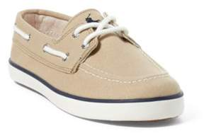 Ralph Lauren Sander Boat Shoe Khaki Canvas 10.5