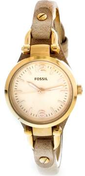 Fossil Women's es3262 Georgia Leather Watch, 26mm